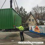 Aufstellung Container